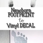 How To Trace & Cut Baby's Footprint With Silhouette Cameo