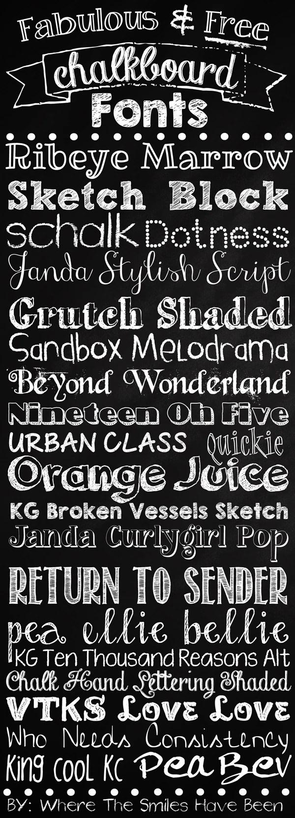 & Free Chalkboard Fonts