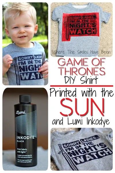 """Game of Thrones """"Sorry Ladies...I'm In The Night's Watch"""" Shirt printed with Inkodye"""