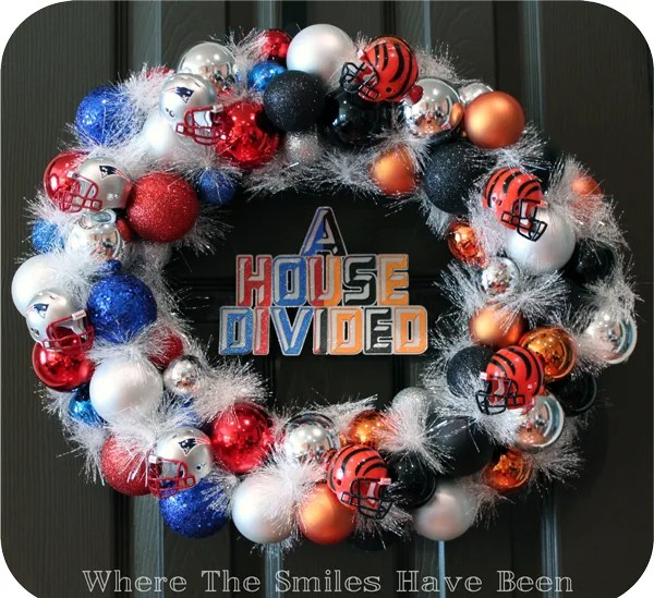 House Divided Ornament Wreath