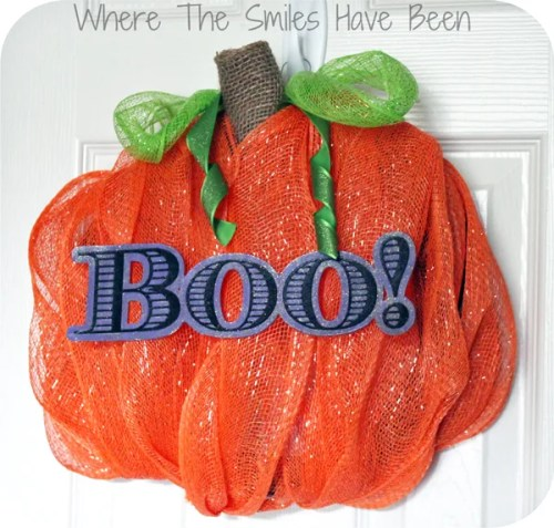 Pumpkin Wreath via Where The Smiles Have Been