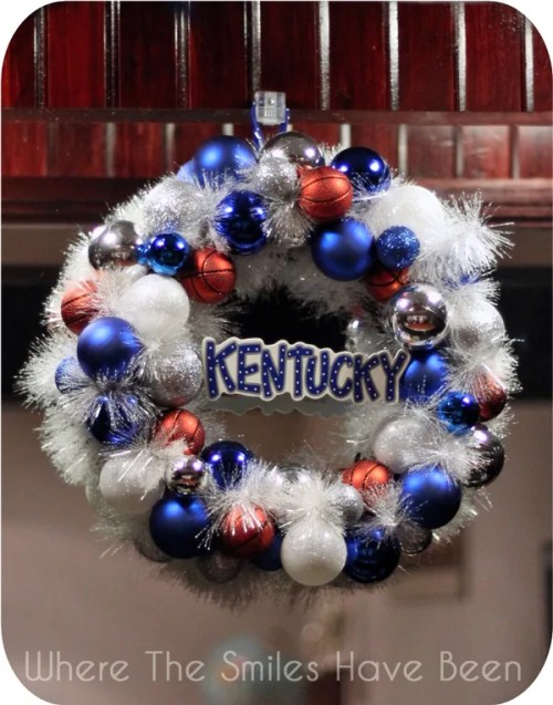 Kentucky Basketball Wreath