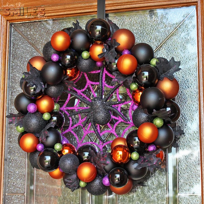 Diy Halloween Ornament Wreath For A Bootiful Front Door