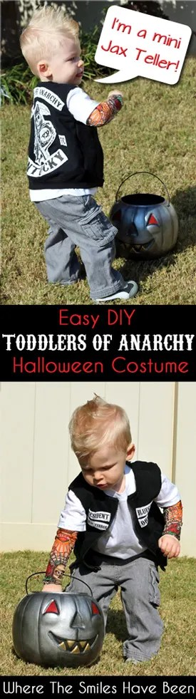 Sons of Anarchy Toddler Halloween Costume Toddlers of Anarchy Cuteness!  sc 1 st  Where The Smiles Have Been & Sons of Anarchy Toddler Halloween Costume