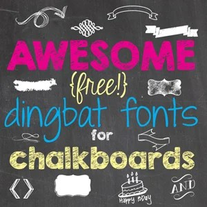 Awesome Free Dingbat Fonts for Chalkboards