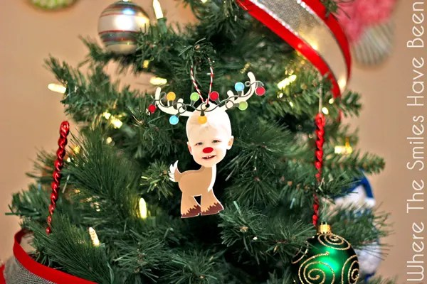 Reindeer Photo Ornament Christmas Card & Silhouette GIVEAWAY!