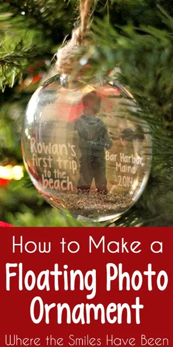 How To Make A Floating Photo Ornament Baby S First Trip