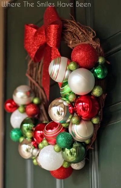 DIY Christmas Ornament Wreath | Where The Smiles Have Been #Christmas #ornament #wreath #holidaydecor