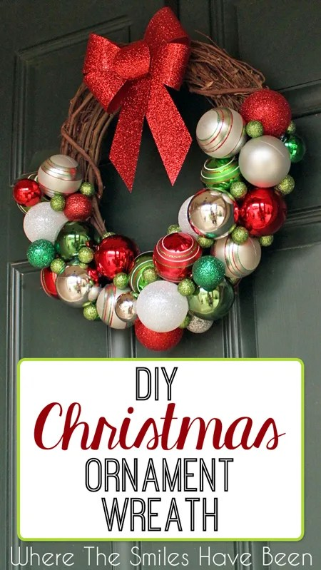 DIY Christmas Ornament Wreath | Where The Smiles Have Been