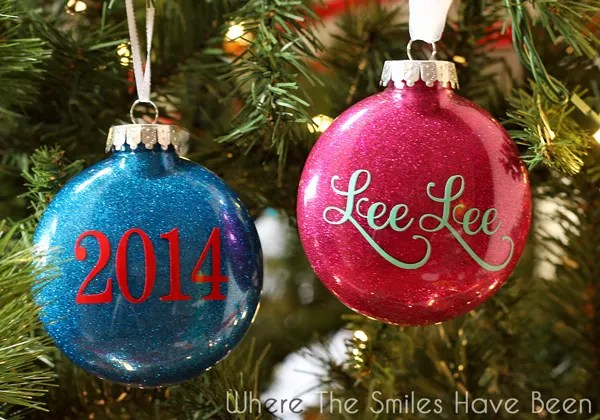 """2/"""" /'B/' Silver Glitter Initials Wooden Disc Christmas Tree Decoration"""