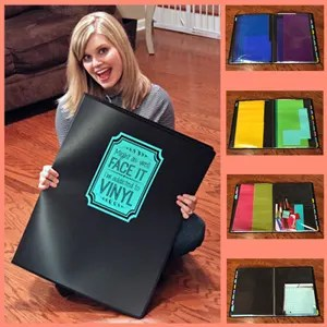 Easy Vinyl Storage Organization and TWO Free Cut Files