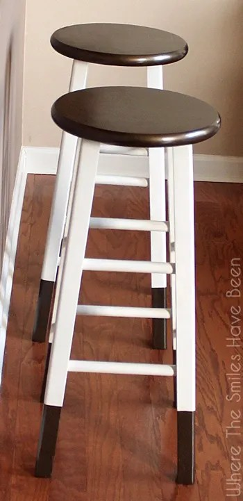 DIY Bronze Dipped Bar Stool Makeover | Where The Smiles Have Been : bar stools at garden ridge - islam-shia.org
