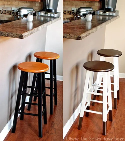 DIY Bronze Dipped Bar Stool Makeover | Where The Smiles Have Been