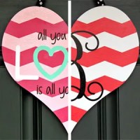 Dual-Sided Valentine's Day Door Hanger