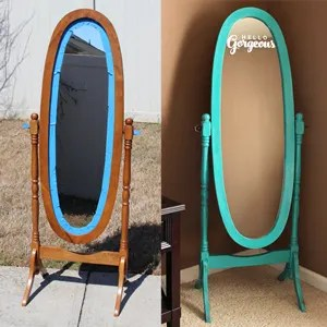 Hello Gorgeous!  Mirror Makeover with Chalk Paint & Vinyl