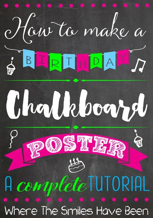 photograph regarding Making a Printable Banner named How in direction of Produce a Birthday Chalkboard Poster