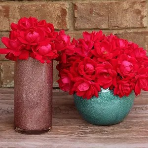 How to Make Glittered Vases   Where The Smiles Have Been