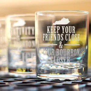 DIY Kentucky Bourbon Etched Glass Set: Perfect Gift for Dad!