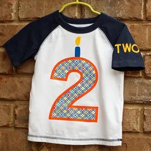 DIY Toddler Birthday Shirt with HTV and Fabric Appliqué