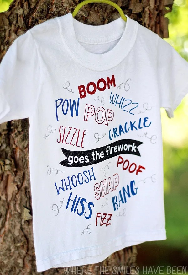 Boom! Snap! Bang!: Fourth of July Firework T-shirt! | Where The Smiles Have Been