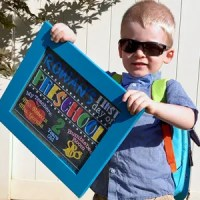 DIY First Day of School Chalkboard Sign Photo Prop