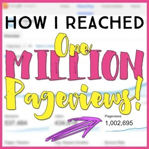 How I Reached ONE MILLION Pageviews in My First Year of Blogging