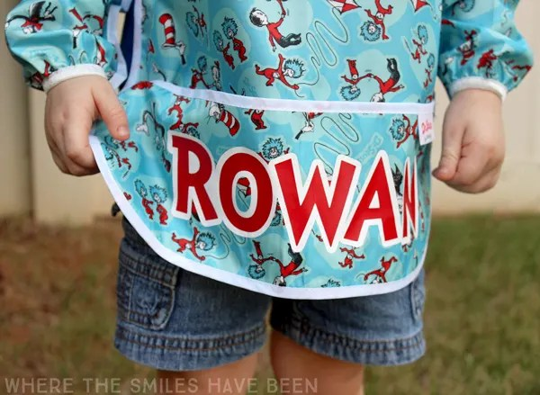 Personalized Art Smock: Back to School in Style! | Where The Smiles Have Been