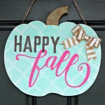 Shabby Chic Happy Fall Pumpkin Door Hanger: My Girly Gourd