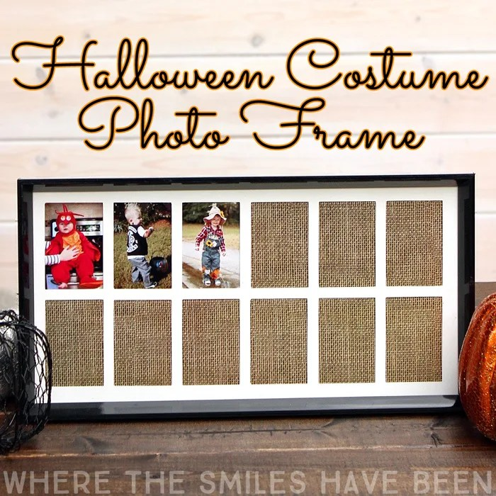 Yearly Halloween Costume Photo Frame | Where The Smiles Have Been