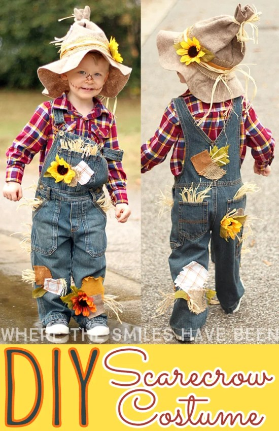 536f002f5 Easy & Adorable DIY Scarecrow Costume That's Perfect for Kids & Adults!