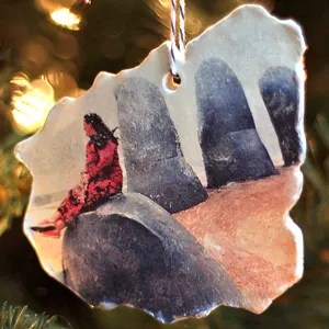 Clay Vacation Map Photo Ornament