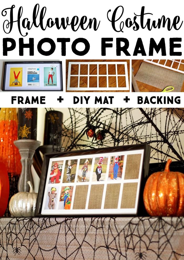 DIY Yearly Halloween Costume Photo Frame | Where The Smiles Have Been #Halloween #costume #HalloweenCostume #keepsake #DIY