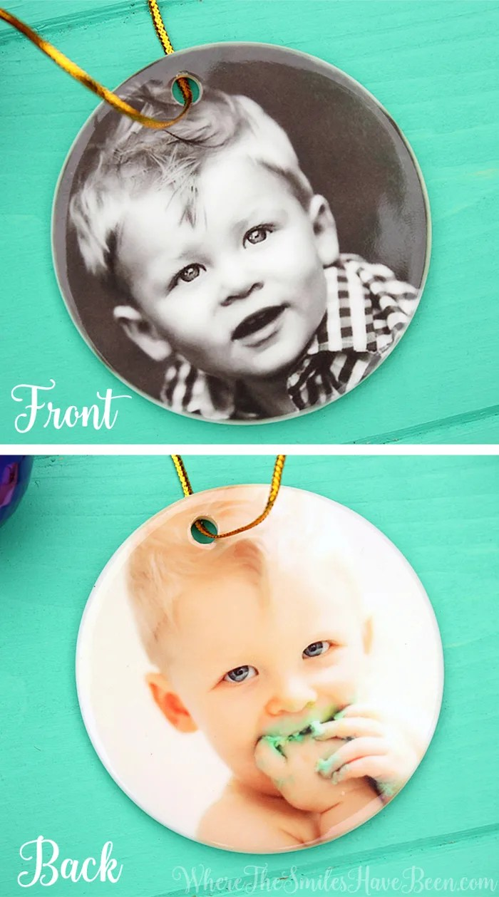 Custom Photo Ornament Gift   Where The Smiles Have Been   #MoreThisHoliday
