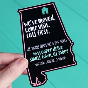 DIY Sassy Moving Announcements | Where The Smiles Have Been