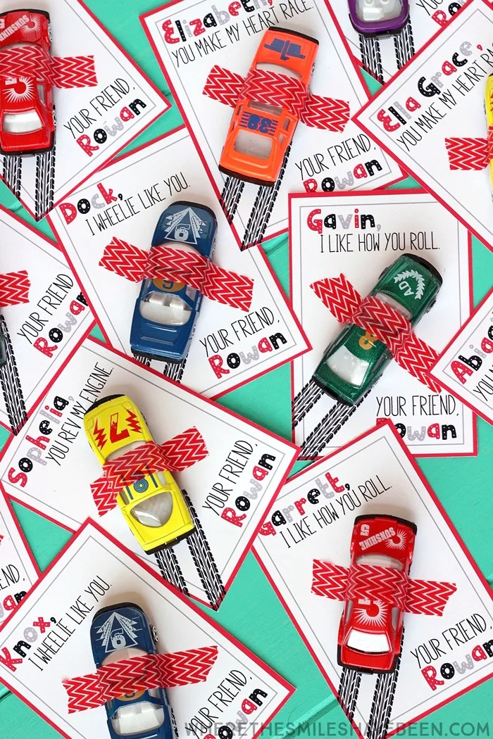 Race Car Valentineu0027s Day Cards With Free Printable! | Where The Smiles Have  Been
