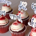Hand-Scripted Love Cupcake Toppers + FREE Cut File & HUGE Font Giveaway!