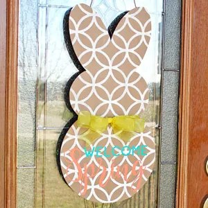 Spring Bunny Door Hanger + Another HUGE Font Giveaway!