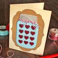 Festive Mason Jar of Hearts Card Tutorial for Silhouette
