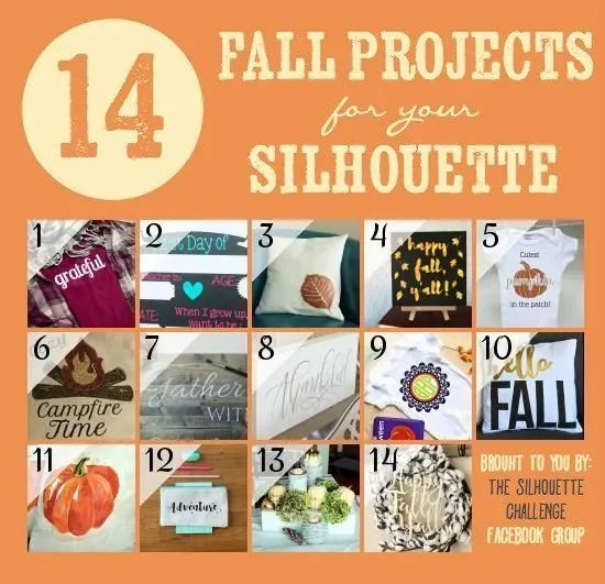 14 Fall Projects for Your Silhouette!