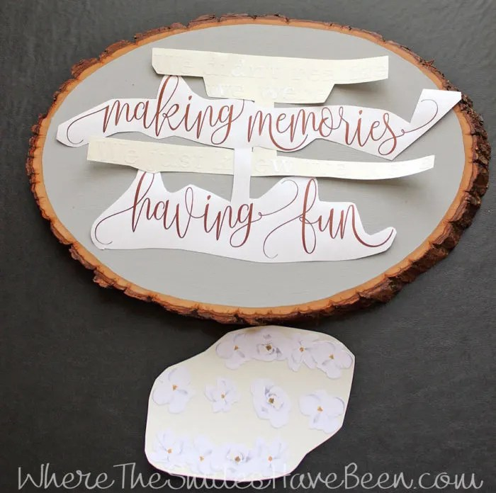DIY Disney-Inspired Wood Slice Sign | Where The Smiles Have Been