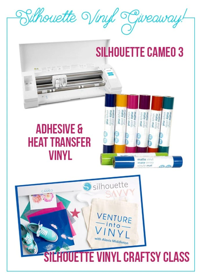 Silhouette Vinyl Giveaway! | Where The Smiles Have Been