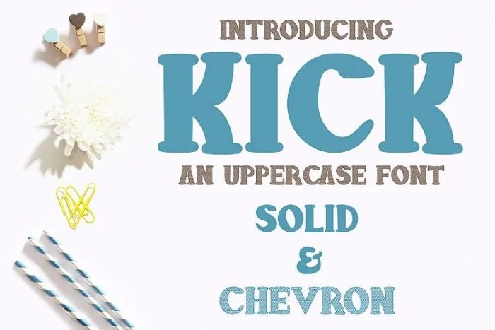 Kick Font from DesignBundles.net!