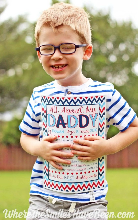 This is the sweetest gift for Father's Day! All About My Daddy Interview with FREE Printable!   Where The Smiles Have Been