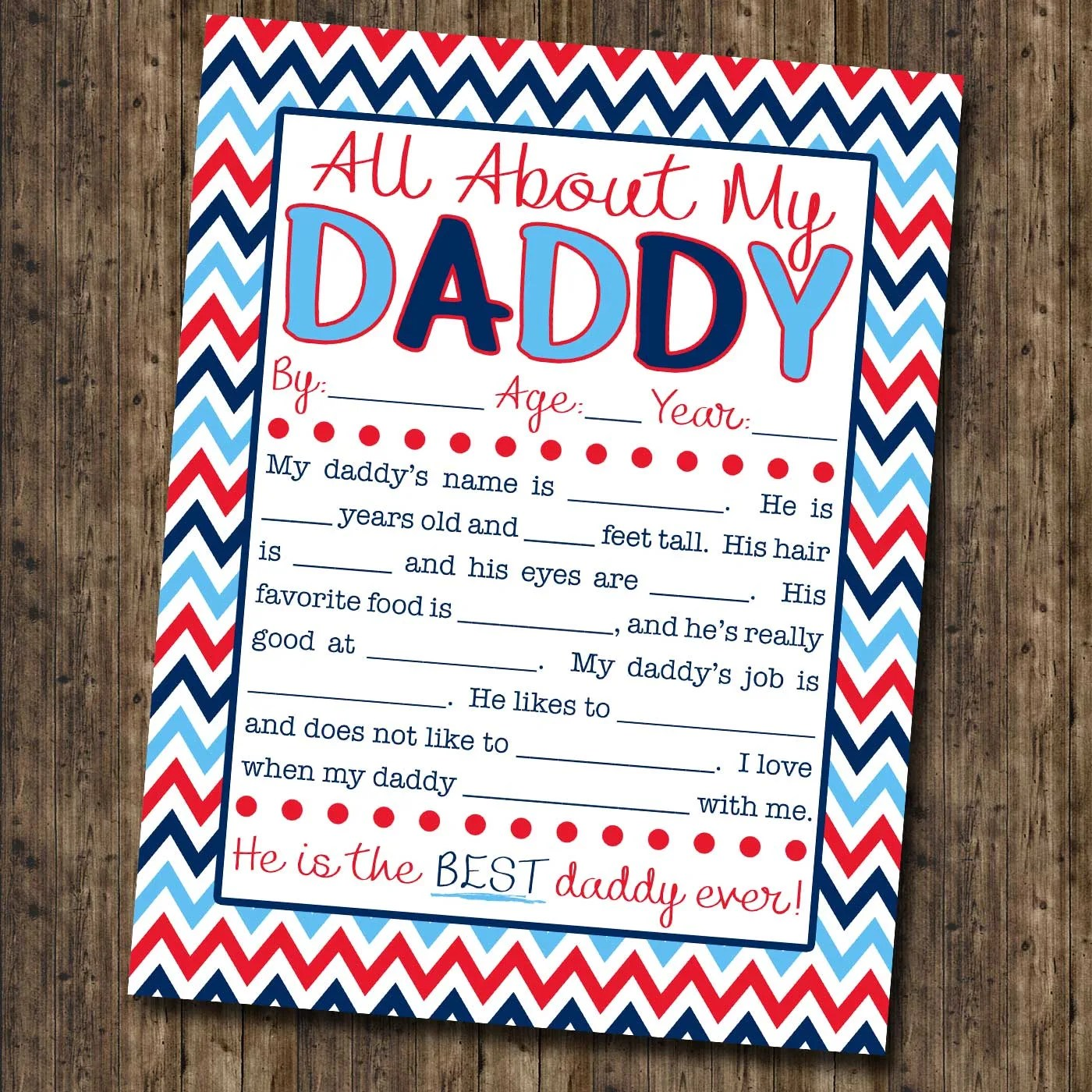 graphic regarding All About My Dad Free Printable named All Pertaining to My Daddy Job interview with Totally free Printable!