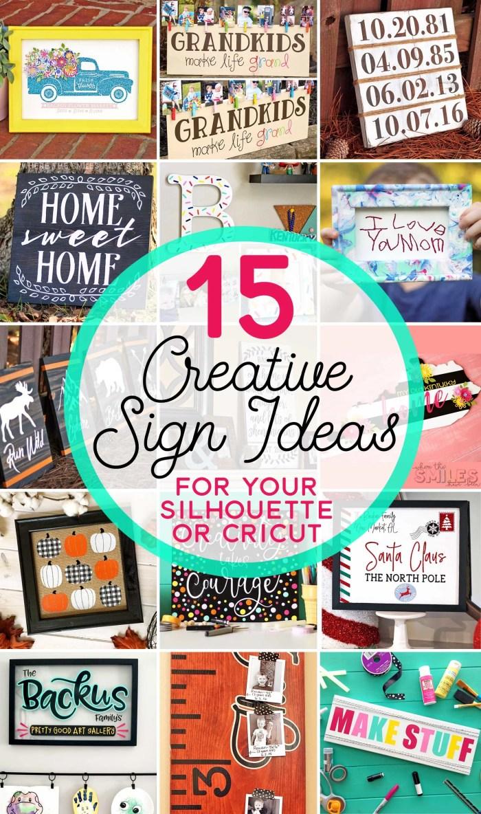 15 Creative Sign Ideas You Can Make with a Silhouette or Cricut   Where The Smiles Have Been #Silhouette #Cricut #DIY #sign #farmhouse #holidaydecor #homedecor #vinyl #HTV #stencils