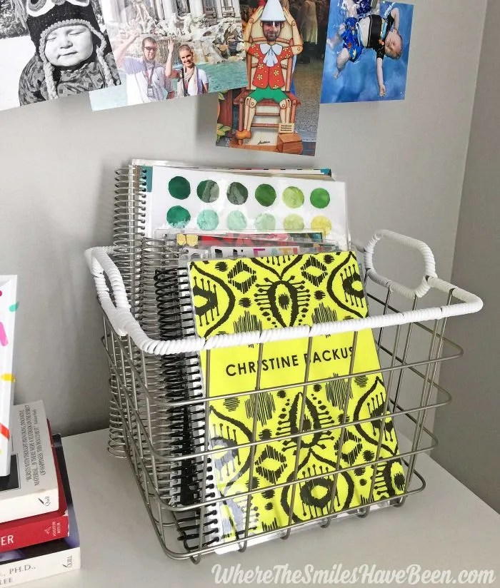 This is a great idea for storing Erin Condren Life Planners and notebooks! Colorful Craft Room Gallery Wall + $100 Erin Condren Giveaway!   Where The Smiles Have Been