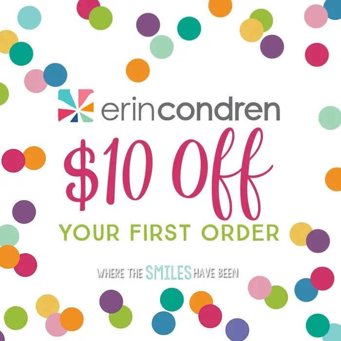 Get $10 OFF your first Erin Condren order at Where The Smiles Have Been!