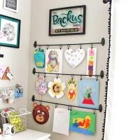 Easy DIY Kids Art Display: Simple, Inexpensive, & No Damage!