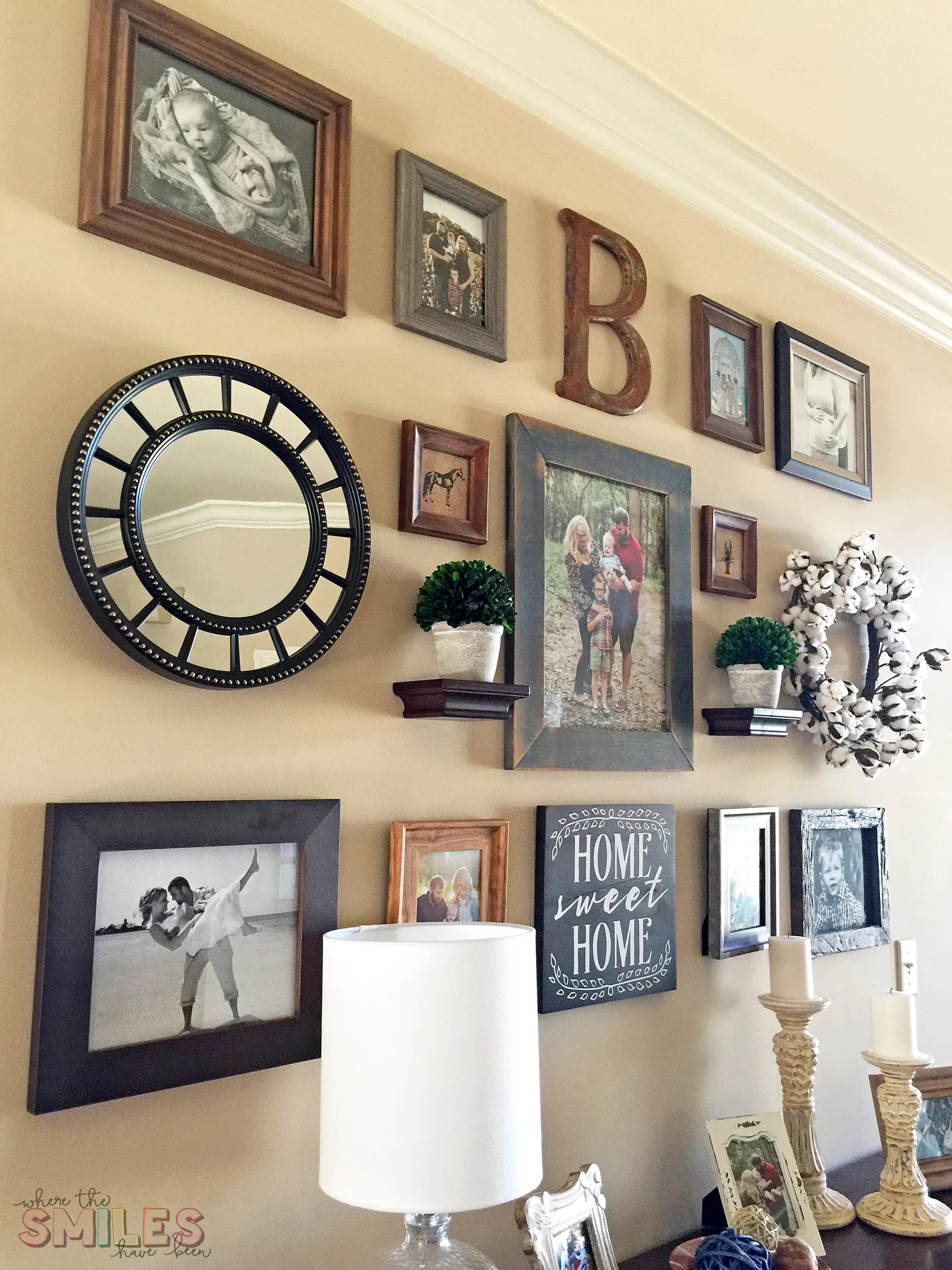 Modern Farmhouse Gallery Wall Reveal - Where The Smiles Have