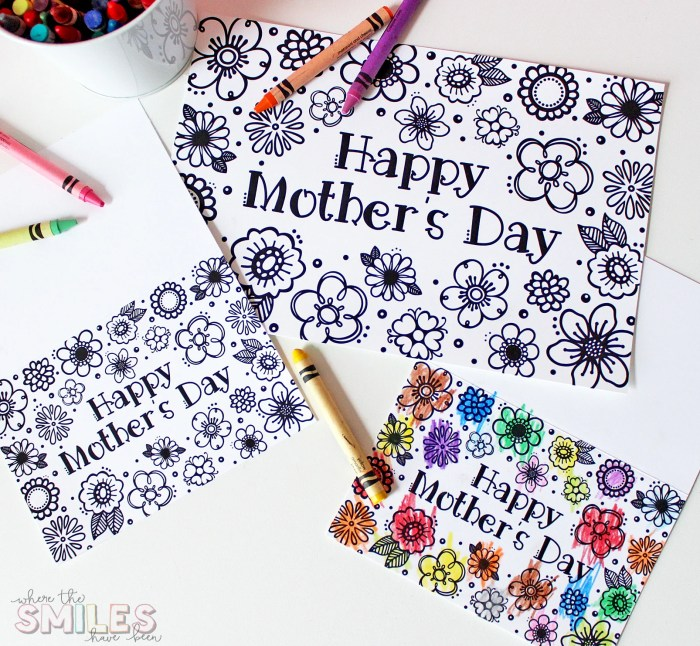 Free Printable Mother's Day Coloring Page & Card (Cut Files Too!) | Where The Smiles Have Been #MothersDay #freeprintable #freecutfile #coloringpage #MothersDayCard #Silhouette #Cricut
